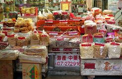 Shopping at the Zhongjie Dry Goods Market Royalty Free Stock Images