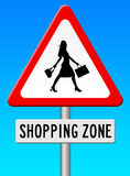Shopping zone Stock Photo