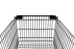 Shoppingbilisolat på vit bakgrund Arkivfoto