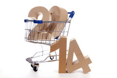 Shoppingcart in autumn Stock Image