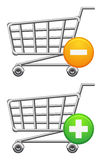 Shoppingcart and button Royalty Free Stock Images