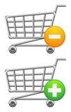 Shoppingcart y botón Imágenes de archivo libres de regalías