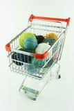 Shoppingcartfromstål Fotografering för Bildbyråer