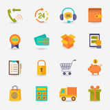 Shoppinge-kommers symbol stock illustrationer