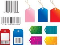shoppingetiketter Arkivbild