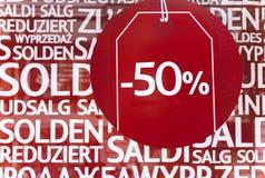 Shoppingförsäljning Royaltyfri Bild