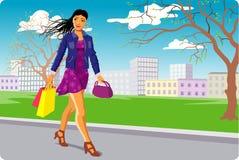 shoppingfjäder Arkivbilder