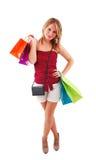 Shoppingflicka Royaltyfri Foto