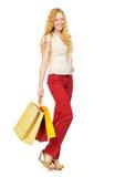 Shoppingflicka Arkivbild