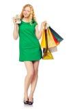 Shoppingflicka Fotografering för Bildbyråer