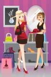 Shoppingflickor vektor illustrationer
