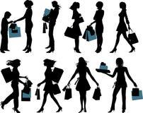 Shoppingfolk. Royaltyfria Foton