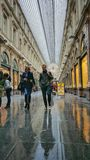 Shoppinggalleri, Bryssel - Les Galeries Royale Saint-Hubert Royaltyfria Bilder