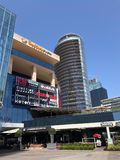 Shoppinggalleria, hotell och residentials i Levent, Istanbul i Turkiet Royaltyfri Fotografi