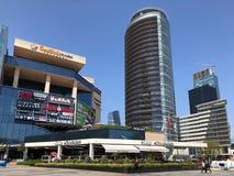 Shoppinggalleria, hotell och residentials i Levent, Istanbul i Turkiet Royaltyfria Bilder