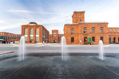 Shoppinggalleria i Lodz, Polen Arkivfoton