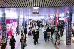 Shoppinggalleria i Zagreb Arkivbild