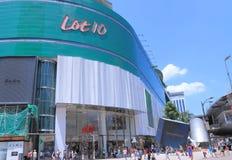 Shoppinggalleria Kuala Lumpur för lott 10 Arkivbild