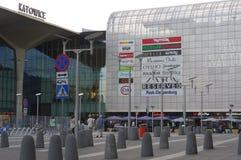 Shoppinggalleriagalleri Katowice i Polen Arkivbilder