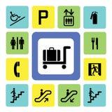 Shoppinggalleriasymboler Fotografering för Bildbyråer