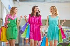 Shoppingkommunikation royaltyfri foto