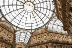 Shoppingkonstgalleri i Milan, Italien Arkivbilder