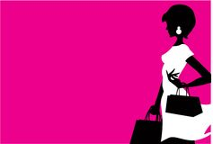 shoppingkvinna Arkivbild