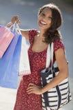 shoppingkvinnabarn Fotografering för Bildbyråer