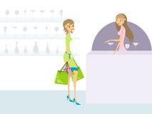 shoppingkvinnabarn Arkivbild