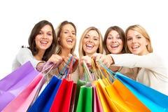 shoppingkvinnor arkivfoto