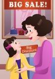 Shoppingmamma och dotter Royaltyfria Foton