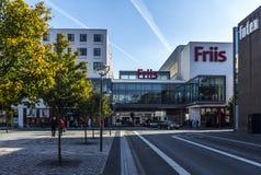 Shoppingmaul du Danemark de centre de la ville de Friis Aalborg Images libres de droits