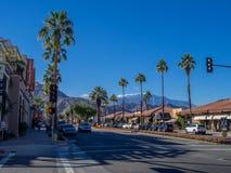 Shoppingområde för El Paseo Arkivfoton