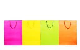 shoppingpåsar som isoleras på white Royaltyfria Foton