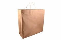 Shoppingpåse för brunt papper Arkivfoto