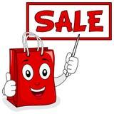 Shoppingpåse med det Sale brädet & pekaren Arkivbild