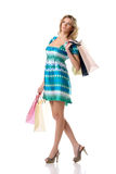 shoppingst-kvinna Arkivfoton
