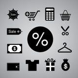 Shoppingsymbol Arkivfoton