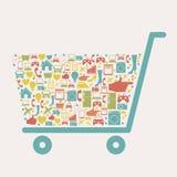 Shoppingsymbol stock illustrationer