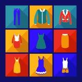 Shoppingsymbol med skugga Royaltyfri Fotografi
