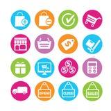Shoppingsymboler Royaltyfri Foto