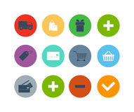 Shoppingsymbolsillustration Royaltyfri Illustrationer