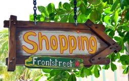 Shoppingtecken Royaltyfri Fotografi