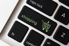 Shoppingtecken på tangentbordet Royaltyfri Bild