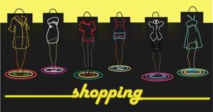 shoppingtid till Stock Illustrationer