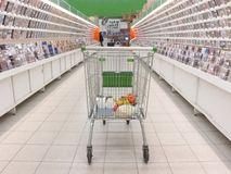 shoppingtrolley Royaltyfria Bilder