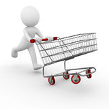 shoppingtrolley Arkivfoto