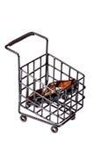 shoppingtrolley Fotografering för Bildbyråer
