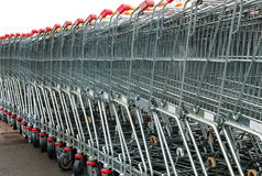 shoppingtrolleys Royaltyfria Foton