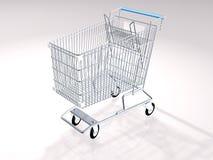 Shoppingvagn royaltyfri fotografi